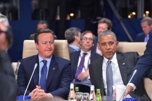 David Cameron (UK Prime Minister) and Barack Obama (US President)
