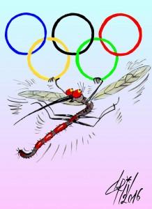 Cum se manifestă virusul Zika la Olimpiada Rio 2016 caricaturi 2