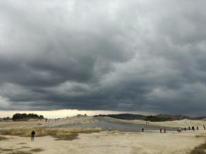Nori de furtună la Vulcanii noroioşi (foto Ziua Veche)