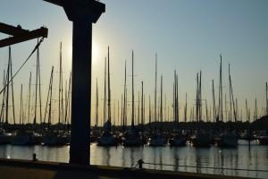 Apus de soare n portul Eazv