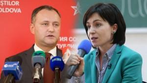 Igor Dodon si Maia Sandu