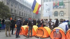 Protestul unioniştilor s a încheiat. Manifestanţii au strâns corturile basarabia