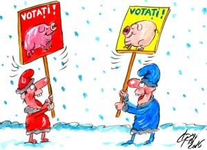 A început campania electorală caricaturi 2