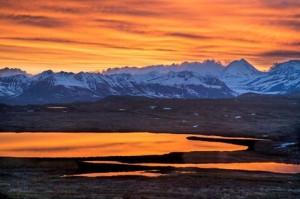 apus de soare in Alaska.