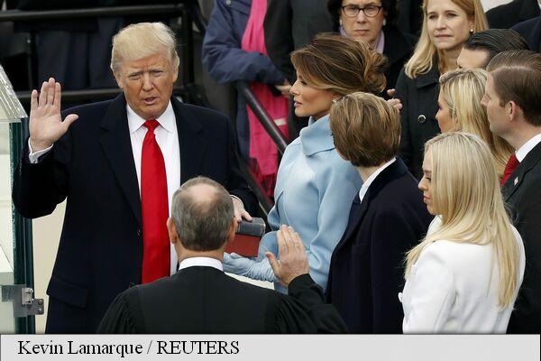 Noul președinte al SUA, Donald Trump, depune jurământul (live video)