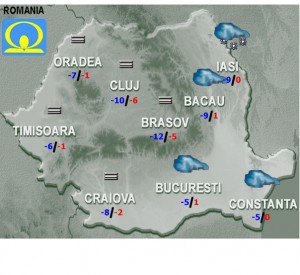 vremea prognoza miercuri 25 ianuarie 2017