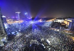 drone protest piata victoriei
