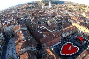 VERONA, ITALY - FEBRUARY 14: