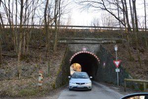 Subtraversare ptr autoturisme a unei căi  ferate  duble