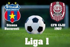Liga I, play-off. Steaua - CFR Cluj.