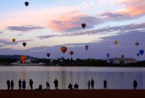 Baloane în Canberra (foto) poza zilei