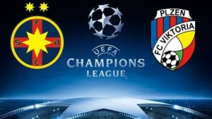 Champions League. FCSB Steaua - Plzen