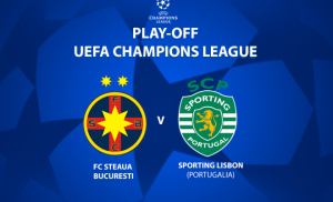 Champions League. FCSB Steaua - Sporting