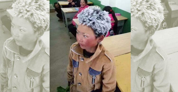 Wang Fuman, băiețelul cu părul de gheață