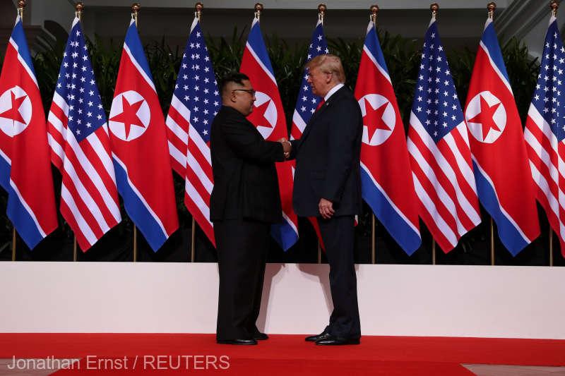 Donald Trump în Singapore cu Kim Jong Un