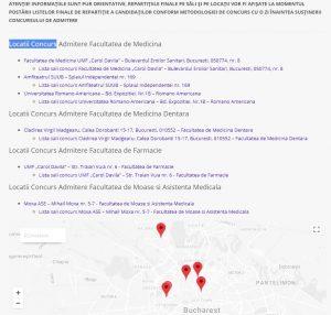 ADMITERE MEDICINĂ 2018. Lista sali concurs