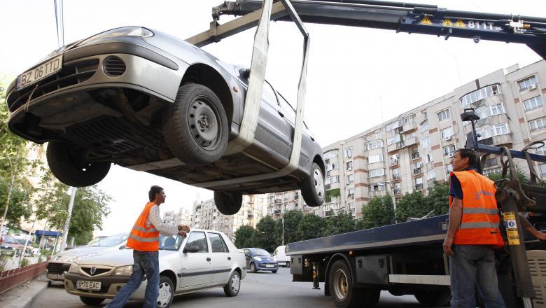 Numerele de telefon la care poţi suna să-ţi recuperezi maşina ridicată în Bucureşti